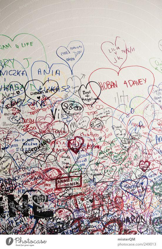 Kritzel. Liebe Wand Graffiti Kunst Herz modern ästhetisch Muster Italien Liebeskummer hässlich Gruß Kultur Kunstwerk Ghetto Straßenkunst
