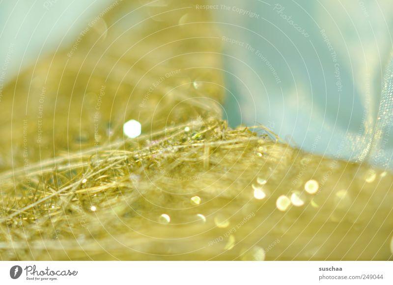glitzer pling pling .. Design Basteln schön blau grün frisch glänzend Stern (Symbol) Faser Stoff hell-blau Farbfoto Detailaufnahme Tag Reflexion & Spiegelung