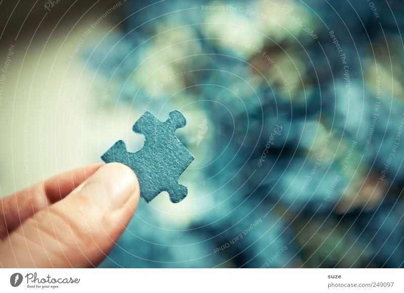 Ich habs ... blau Spielen klein Freizeit & Hobby Finger Suche einfach Kreativität festhalten Spielzeug Teile u. Stücke Karton durcheinander Puzzle Kinderspiel