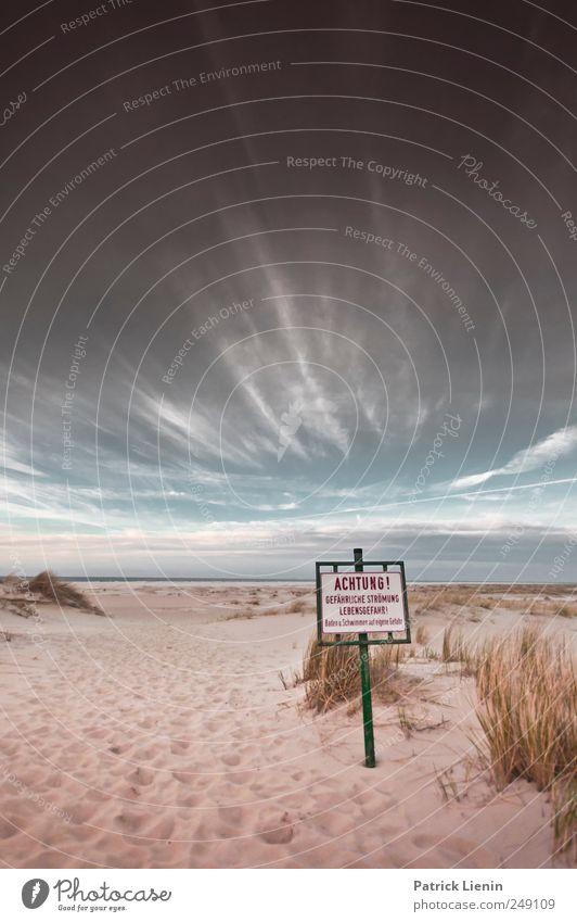 Spiekeroog | Achtung Himmel Strand Meer Sand Schilder & Markierungen