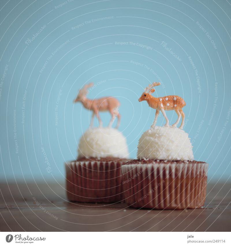 sweet deer Weihnachten & Advent weiß blau Tier Ernährung Lebensmittel braun Dekoration & Verzierung Kitsch Kuchen Süßwaren Backwaren Hirsche Teigwaren Muffin
