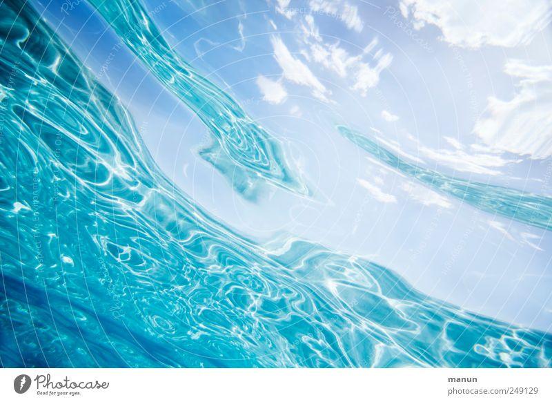 crystal water Himmel Natur Wasser blau Meer Ferien & Urlaub & Reisen Wolken frisch natürlich authentisch Urelemente Sauberkeit Klarheit rein fantastisch Flüssigkeit
