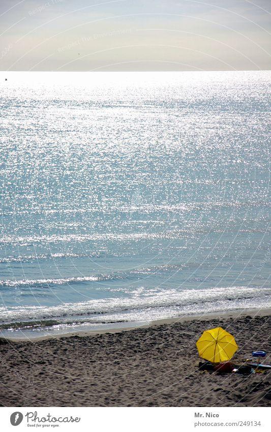 the sea Natur Ferien & Urlaub & Reisen Meer Sommer Strand ruhig Ferne Erholung gelb Landschaft Sand Glück Wellen Zufriedenheit Klima Tourismus