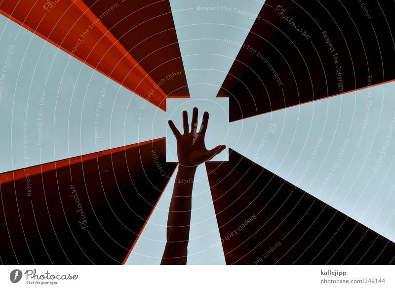 help point Mensch Himmel Hand Himmel (Jenseits) Erwachsene Religion & Glaube Arme Finger Stern (Symbol) Hilfsbereitschaft Quadrat Denkmal Gott Christentum