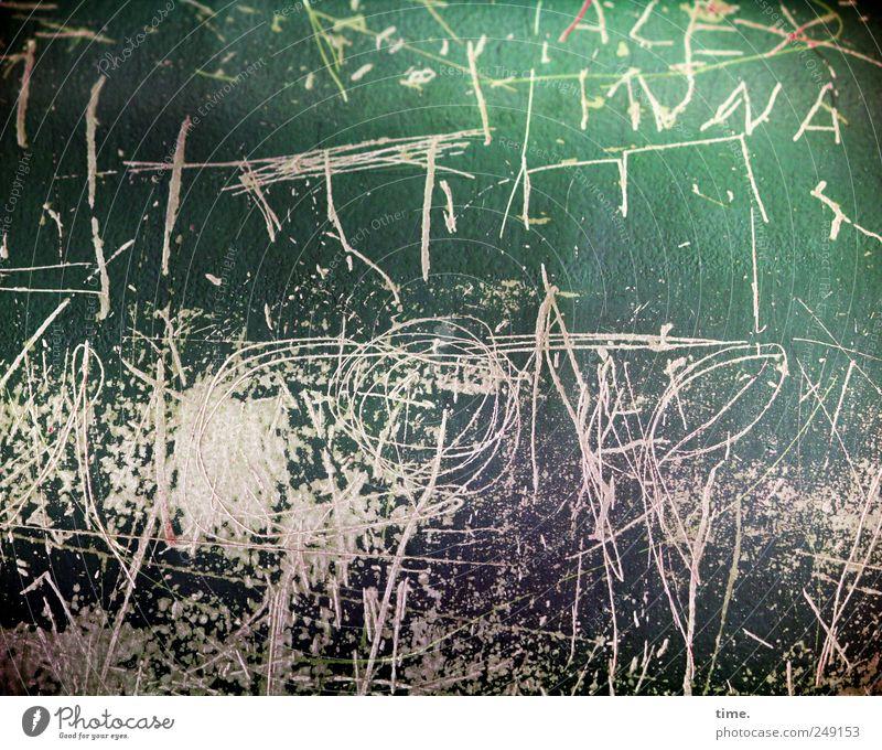 Höhere Mathematik alt grün Graffiti Metall Kunst braun Schriftzeichen Buchstaben Bild Zeichen Symbole & Metaphern malen zeichnen chaotisch durcheinander Rätsel