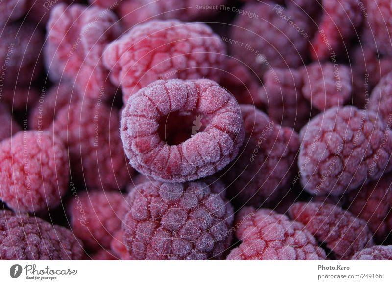 Himbeere rot kalt klein rosa Frucht niedlich violett lecker Süßwaren