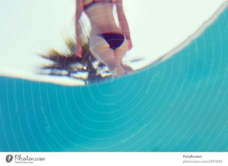 #A# Wasserunterfläche Frau Ferien & Urlaub & Reisen Jugendliche Sommer blau Erotik Erholung Liebe Schwimmen & Baden ästhetisch genießen Perspektive Sommerurlaub