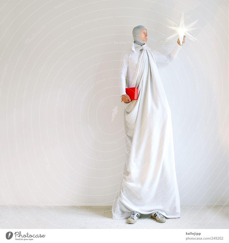 liberty Mensch Mann Weihnachten & Advent weiß rot Erwachsene Religion & Glaube Lampe maskulin leuchten groß stehen Buch Stern Idee Zeichen