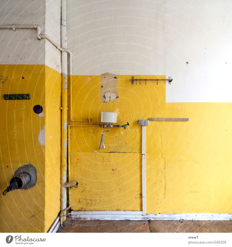Küche Renovieren Umzug (Wohnungswechsel) einrichten Dekoration & Verzierung Mauer Wand Stein Beton Linie Streifen alt authentisch dreckig einfach kaputt