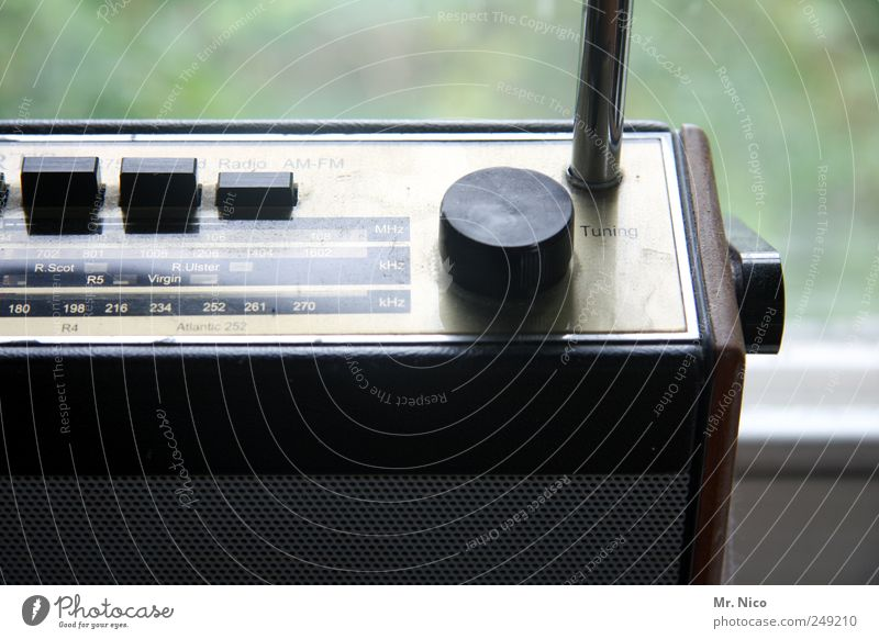 Radio GaGa alt Design retro hören Medien analog drehen Radiogerät Nostalgie Klang Antenne High-Tech mono Schall Sender Trödel