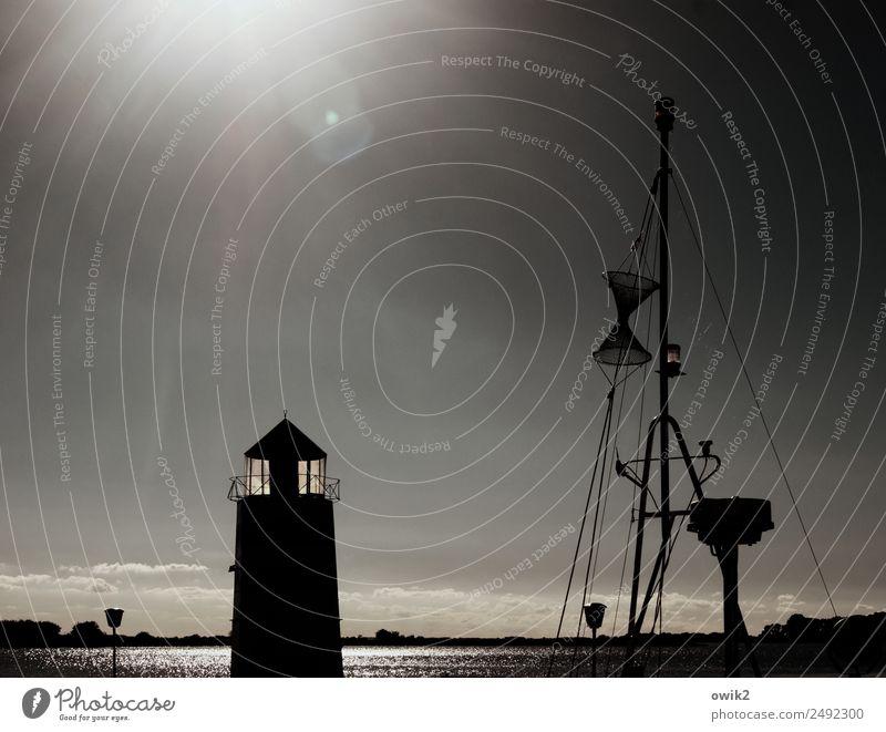 Waase Umwelt Natur Landschaft Wasser Wolkenloser Himmel Horizont Sonne Klima Schönes Wetter Küste Ostsee Insel Ummanz Rügen Dorf Leuchtturm Gebäude