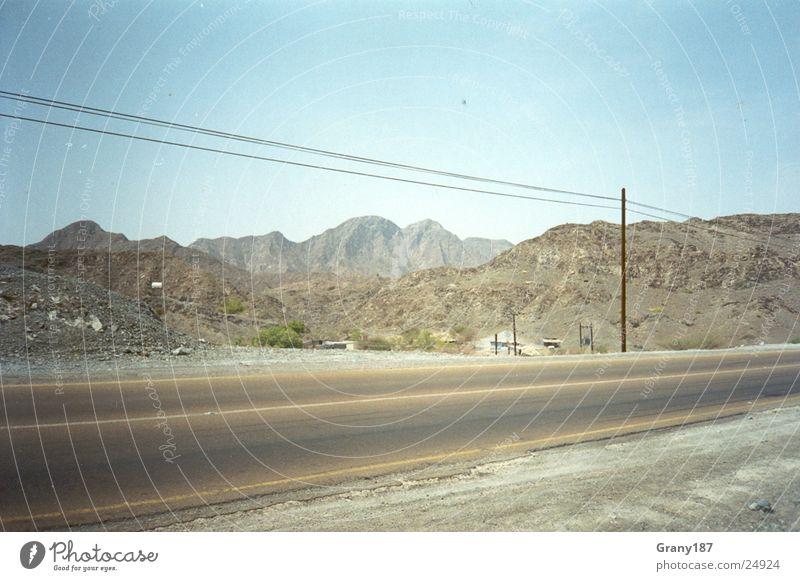 Desert Route Sonne Ferien & Urlaub & Reisen Straße Linie groß Verkehr Wüste Autobahn Amerika Plakat Werbefachmann Route 66