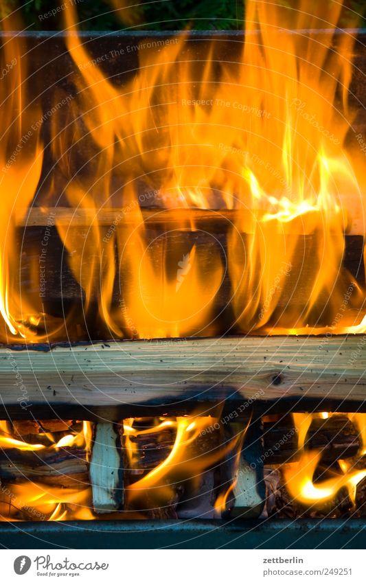 Feuer Natur Pflanze Garten Holz Wärme Beleuchtung Brand Feuer Grillen brennen Flamme Grill Kamin Textfreiraum Schrebergarten heizen