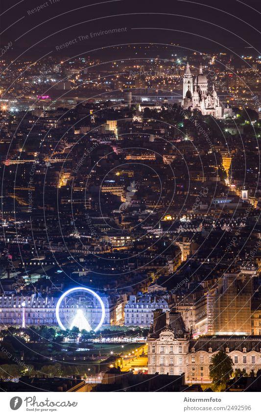 Leuchtende Pariser Stadt in der nahen Zukunft Lifestyle Ferien & Urlaub & Reisen Tourismus Ausflug Sightseeing Städtereise Nachtleben Landschaft Hauptstadt