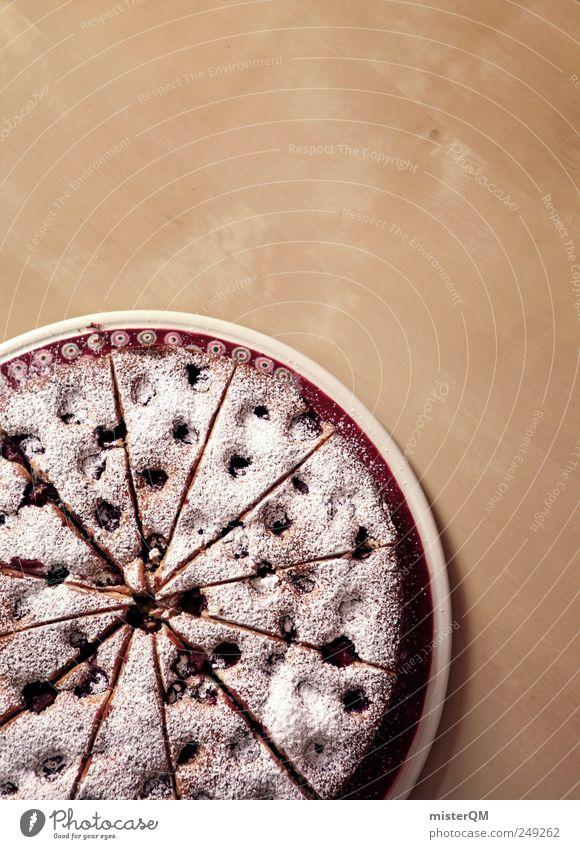 Kuchen für Zwischendurch. Lebensmittel Frühstück Kaffeetrinken süß ästhetisch lecker Vesper Puderzucker Kaffeetisch Kaffeepause Dickmacher Kalorienreich Tisch