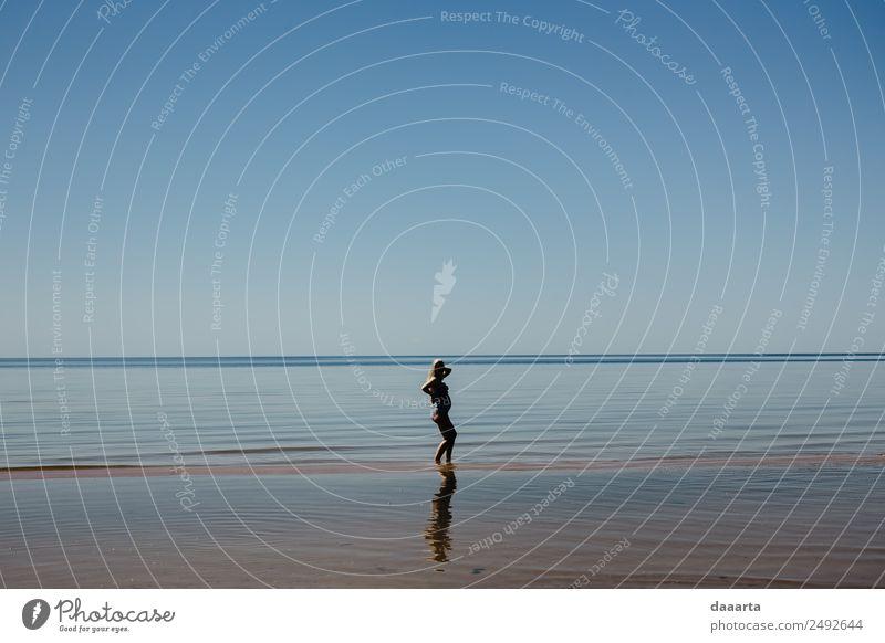 Natur Ferien & Urlaub & Reisen Jugendliche Junge Frau Sommer Wasser Sonne Landschaft Freude Strand Leben Küste feminin Familie & Verwandtschaft Freiheit
