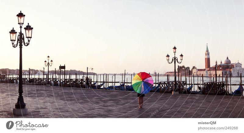 Let's Colour Venice IV Kunst Zufriedenheit ästhetisch verrückt Hoffnung einzigartig außergewöhnlich Reisefotografie Regenschirm Karneval Kreativität