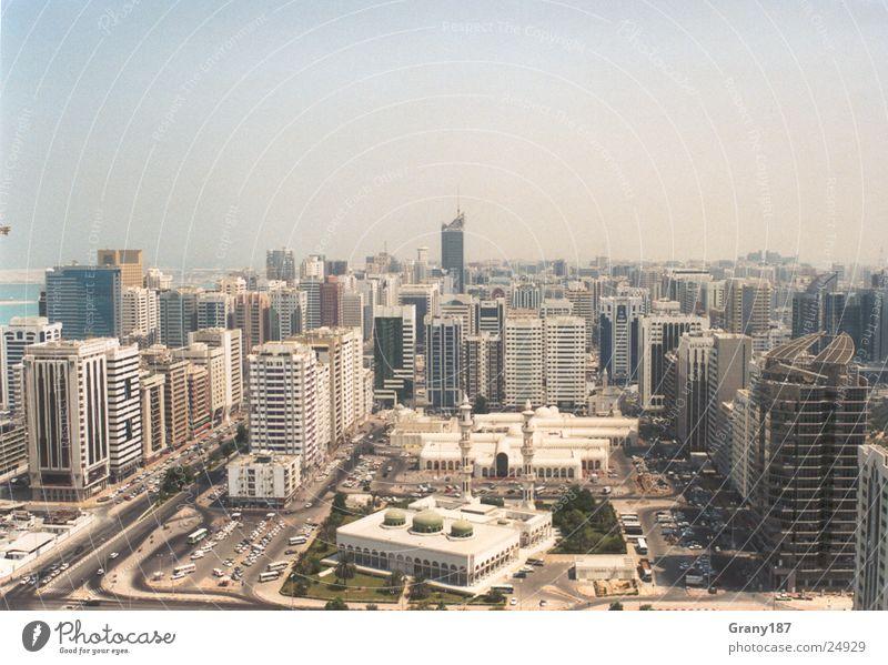 Abu Dhabi Stadt Ferien & Urlaub & Reisen Erfolg groß Hochhaus Werbung Plakat Werbefachmann