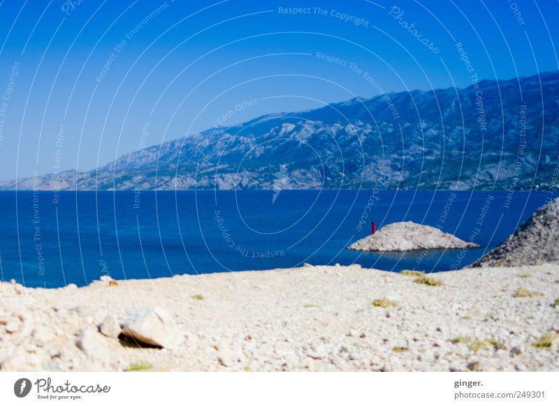 Dovidenja Hrvatska Ferien & Urlaub & Reisen Tourismus Sommer Sommerurlaub Strand Meer Insel Wellen Berge u. Gebirge blau beige Leuchtturm Velebit-Gebirge