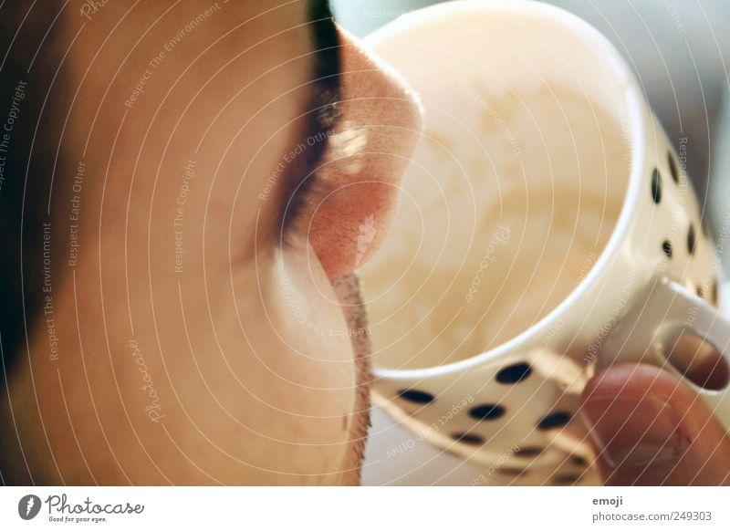 Kaffee und Mensch Jugendliche Erwachsene Gesicht maskulin Kaffee trinken 18-30 Jahre Tasse Kakao Junger Mann Ernährung Mann Koffein Kaffeetrinken