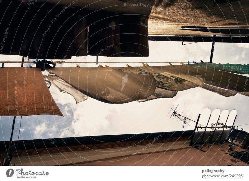 Vom Winde verweht II Sommer Ferien & Urlaub & Reisen Wolken Fenster Wand Mauer Gebäude Luft Fassade Tourismus Häusliches Leben Dach Sauberkeit Reinigen Italien