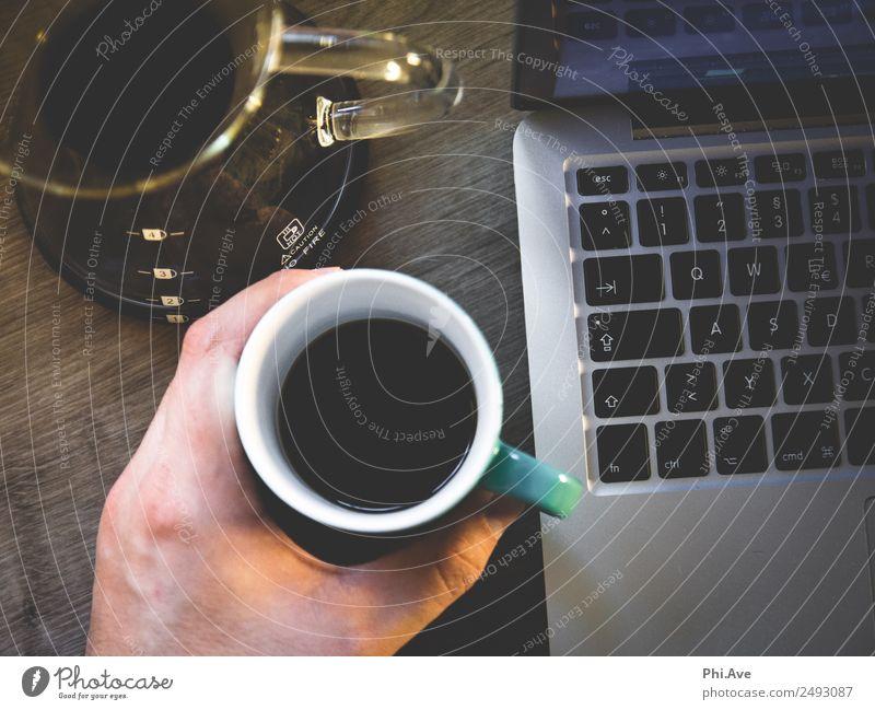Kaffeepause Lebensmittel Ernährung Frühstück Mittagessen Kaffeetrinken Italienische Küche Getränk Heißgetränk Latte Macchiato Espresso Tasse Becher Schreibtisch
