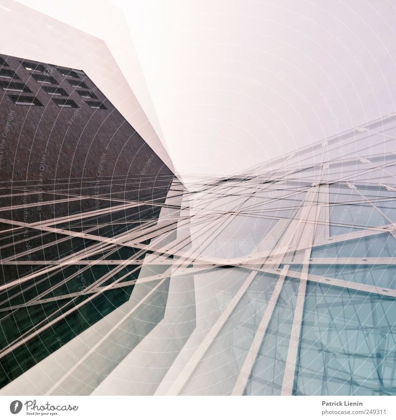 Auf der Flucht Haus Wand Umwelt Architektur Mauer Gebäude Fassade modern Hochhaus Perspektive außergewöhnlich Bankgebäude Bauwerk Gesellschaft (Soziologie) skurril