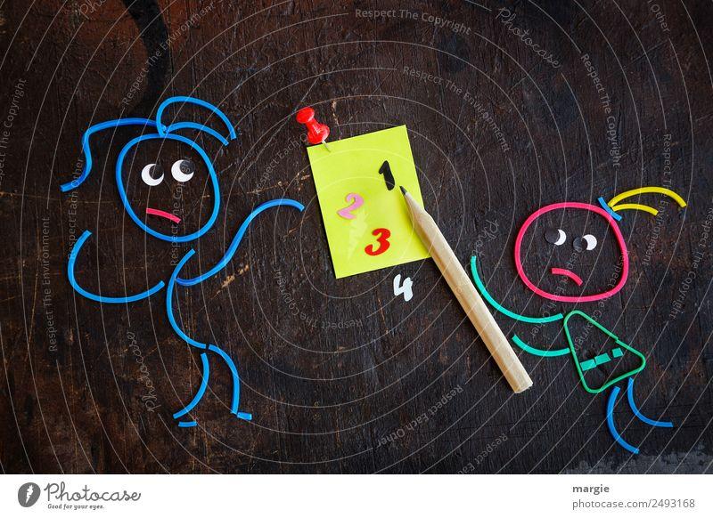 Gummiwürmer: Schulanfang Frau Kind Mensch Mann blau schwarz Erwachsene feminin maskulin