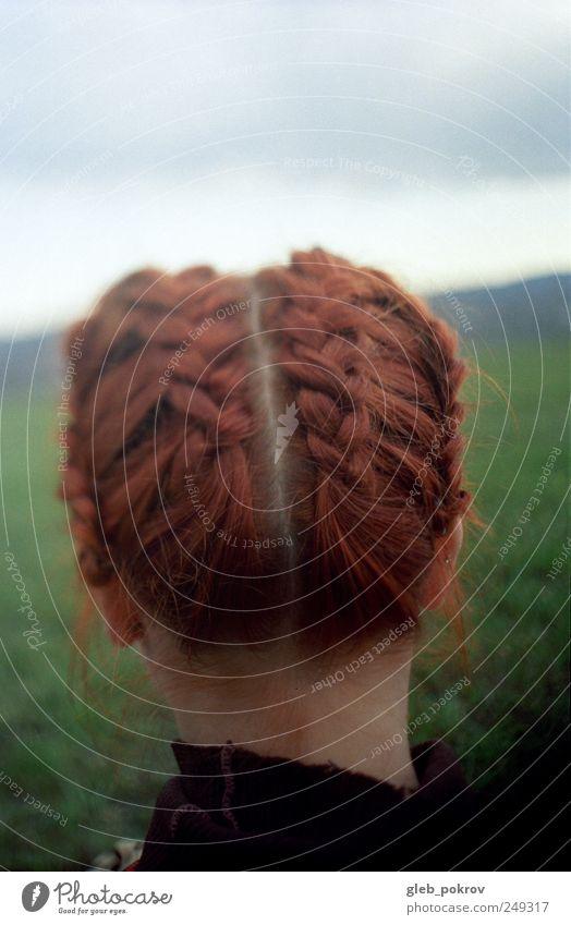 Dokument #00 Lifestyle elegant exotisch Freude Haare & Frisuren Junge Frau Jugendliche Kopf 1 Mensch 18-30 Jahre Erwachsene rothaarig genießen authentisch gut