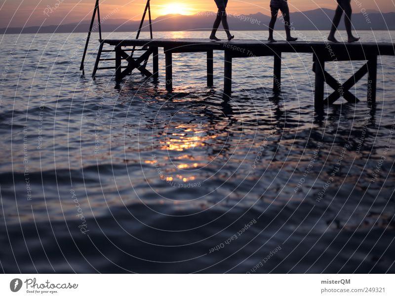 Summer Goes. Mensch Himmel Natur Wasser Sonne Sommer Ferien & Urlaub & Reisen ruhig Umwelt springen See Wetter Zufriedenheit Freizeit & Hobby Horizont laufen