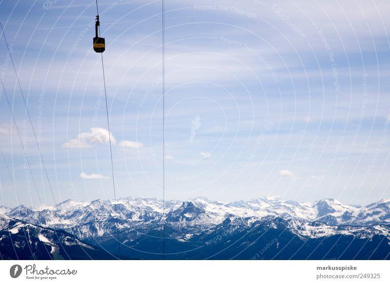 aufwärts immer Natur Ferien & Urlaub & Reisen Ferne Freiheit Berge u. Gebirge Umwelt Ausflug Abenteuer wandern Seil Tourismus Alpen Unendlichkeit Gipfel