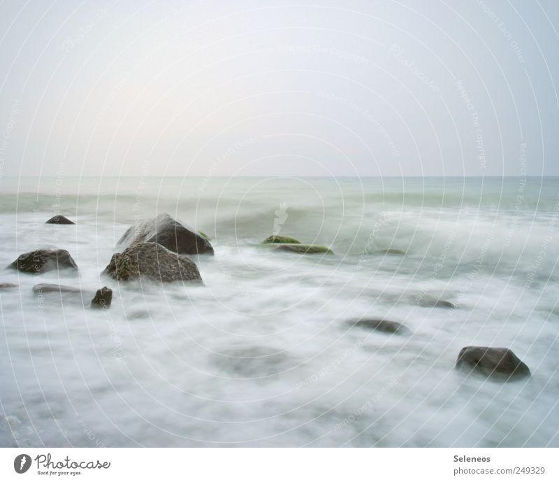 weiße Küste Himmel Natur Ferien & Urlaub & Reisen Meer Ferne Freiheit Umwelt Landschaft Stein hell Wetter Wellen Horizont nass Abenteuer Insel