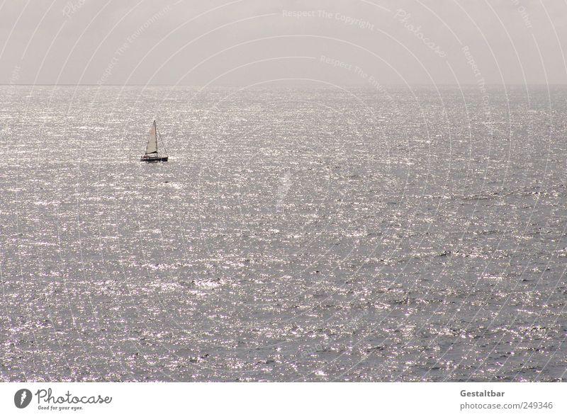 Cinque Terre nur noch vom Boot aus Himmel schön Wasser Sommer Meer Einsamkeit Erholung ruhig Wolken Schwimmen & Baden Freiheit Glück Horizont genießen
