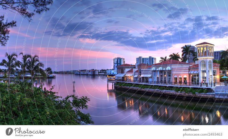 Himmel Natur Ferien & Urlaub & Reisen blau schön Meer Wolken Küste rosa Aussicht USA kaufen Fluss violett Altstadt Dorf