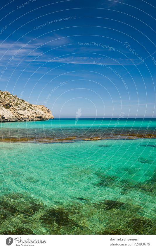 urlaubsreif Himmel Natur blau Wasser Meer Erholung ruhig Ferne Umwelt Küste Horizont Schönes Wetter Unendlichkeit türkis Mittelmeer Mallorca
