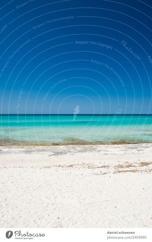Sommerferien Ferien & Urlaub & Reisen Tourismus Ferne Sommerurlaub Sonne Sonnenbad Strand Meer Landschaft Wolkenloser Himmel Schönes Wetter Küste Mittelmeer