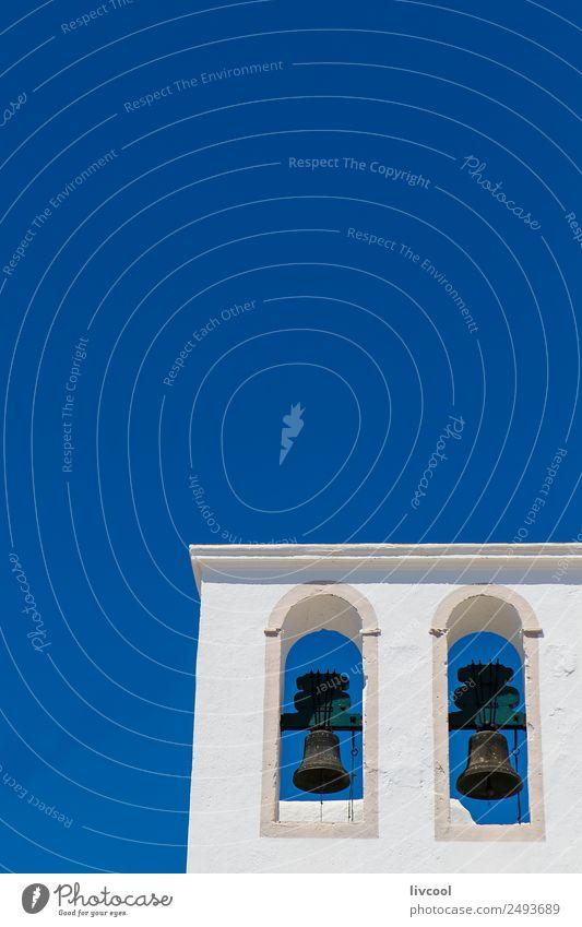 Ferien & Urlaub & Reisen blau schön weiß Straße Architektur Religion & Glaube Gebäude Kunst Tourismus Fassade retro Kirche Europa Kultur niedlich