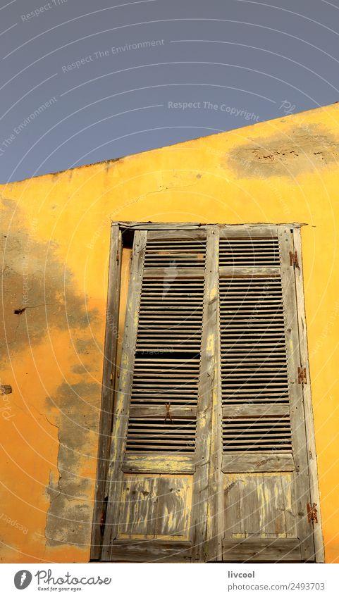 Gelbe Fassade - Heiliger Louis du Senegal kaufen Basteln Haus Kind Junge Mann Erwachsene Kunst Architektur Sand Baum Dorf Stadt Mauer Wand Fenster Straße alt