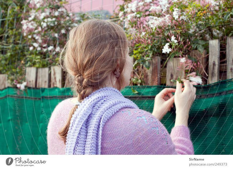 174 [Jasmin] Mensch Natur Pflanze Blume Leben Wand Haare & Frisuren Garten Blüte Mauer Zufriedenheit natürlich frisch beobachten berühren Blühend