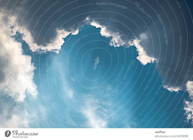 blau-weiß 3 Himmel Wolken Religion & Glaube Wetter Schönes Wetter Spiritualität