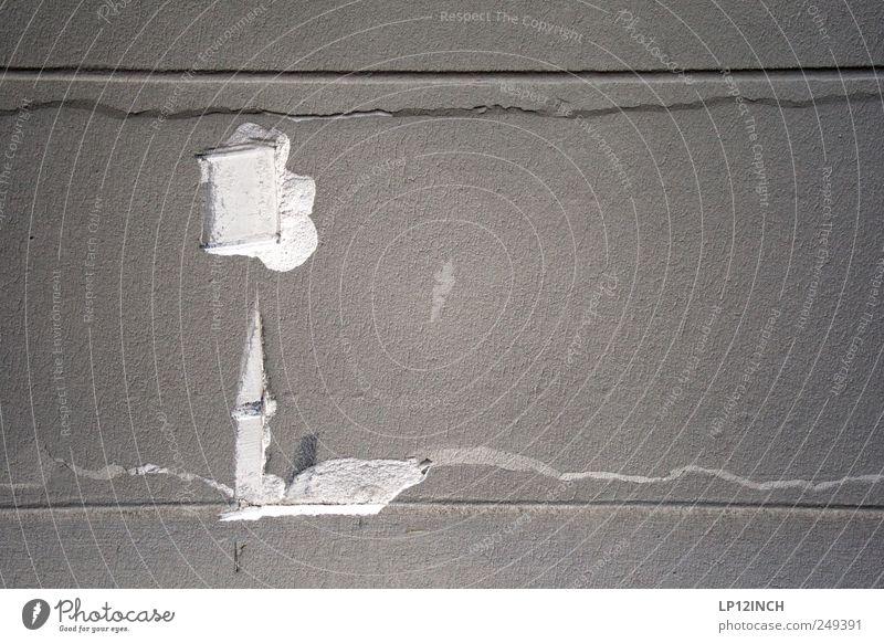 Die Kirche im Dorf lassen. Wand Mauer Linie Fassade kaputt Turm Kunst Straßenkunst Grafik u. Illustration Wandmalereien Strukturen & Formen Kultur
