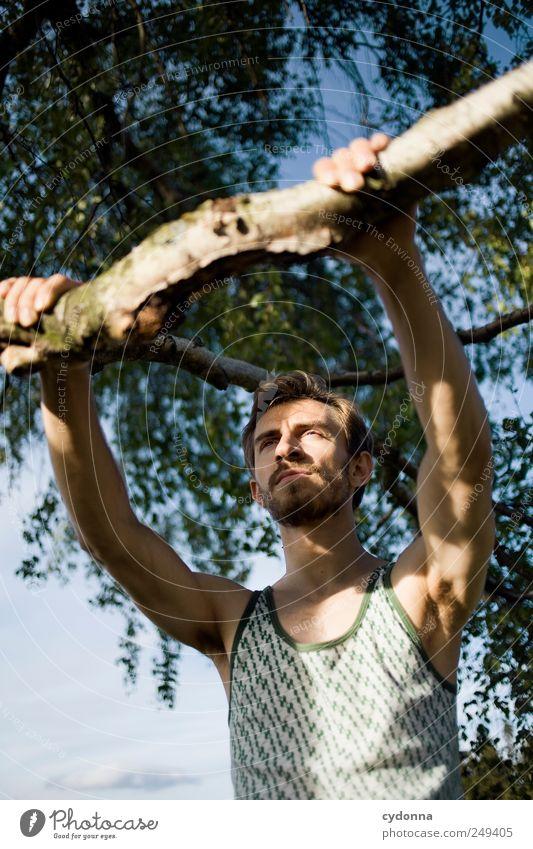 Pack mer's Lifestyle schön Gesundheit Leben Wohlgefühl Zufriedenheit Mensch Junger Mann Jugendliche 18-30 Jahre Erwachsene Umwelt Natur Sommer Baum Beratung