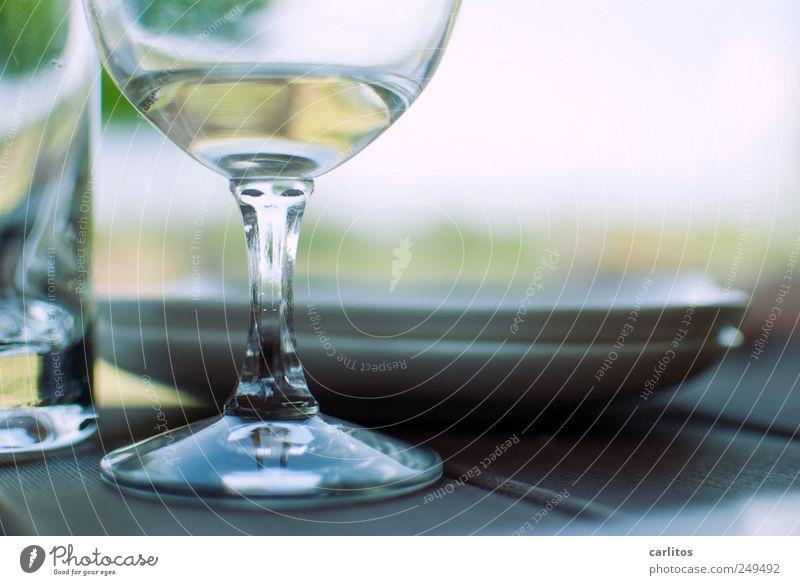 Siesta Sommer Erholung Glas Pause rund Teller genießen Wochenende Weinglas Wasserglas Schliff halbvoll