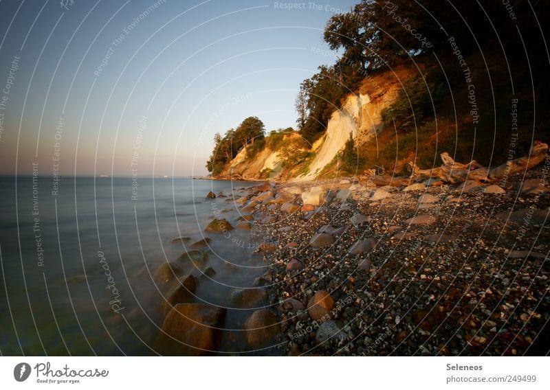 Strand am Morgen Ferien & Urlaub & Reisen Tourismus Ausflug Abenteuer Ferne Freiheit Sommer Sommerurlaub Meer Insel Wellen Umwelt Natur Landschaft