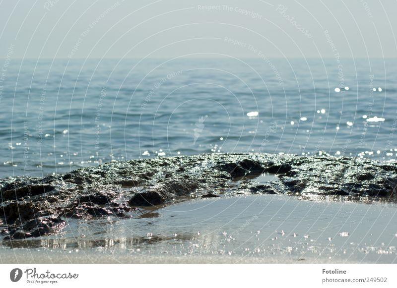 Ich träum vom Strand Himmel Natur blau Sommer Meer Umwelt Landschaft Sand Küste Stein hell nass Felsen natürlich heiß