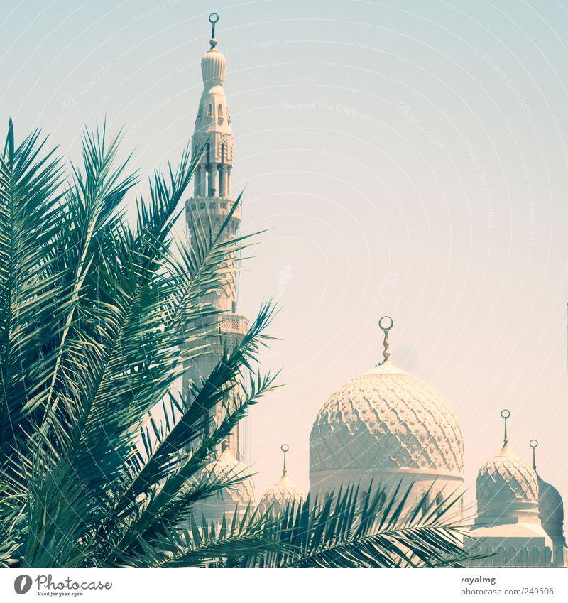 Im Verborgenen Sommer Ferne Religion & Glaube Zufriedenheit Ausflug Tourismus Denkmal Wahrzeichen Islam Sommerurlaub Sehenswürdigkeit Wolkenloser Himmel Dubai