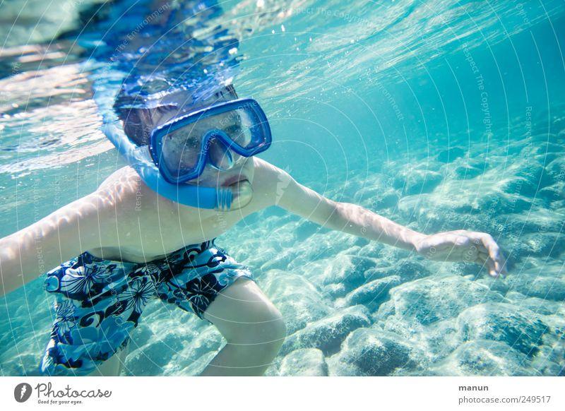 Amphibie Freizeit & Hobby Ferien & Urlaub & Reisen Wassersport Schwimmen & Baden tauchen Schnorcheln Mensch Kind Junge Kindheit Jugendliche Leben 1 Meer