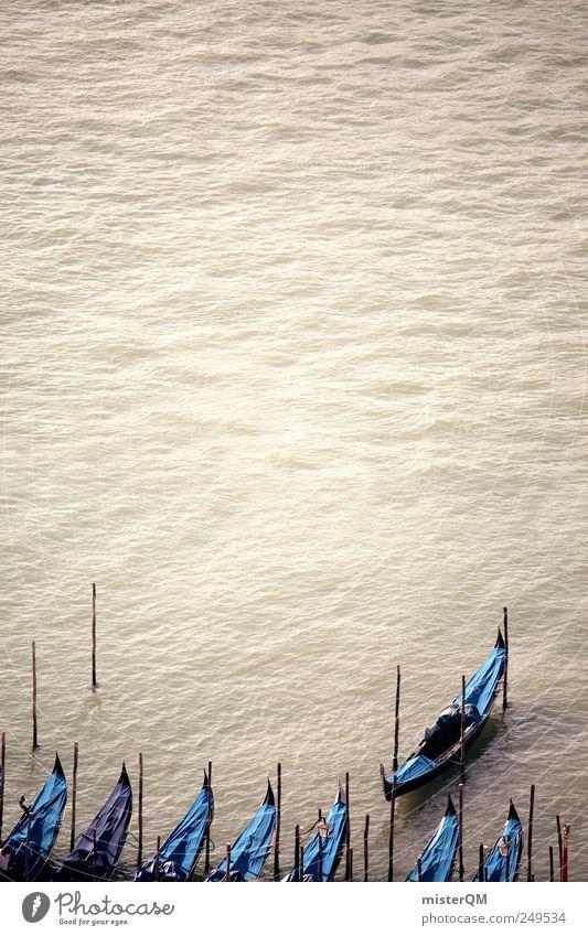 Bereit. Ferien & Urlaub & Reisen Kunst ästhetisch Italien Venedig Kunstwerk Barock Gondel (Boot) Italienisch Renaissance Urlaubsstimmung Urlaubsfoto Veneto