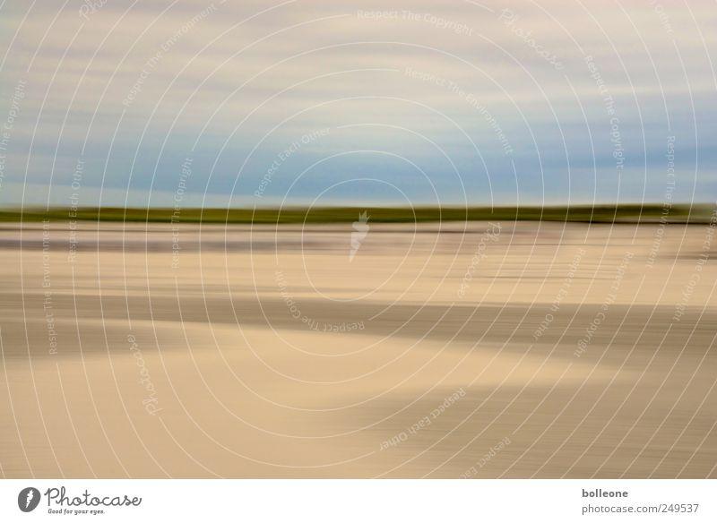 Wisch&Weg IX Himmel Natur grün blau Sommer Strand Meer Ferien & Urlaub & Reisen ruhig Einsamkeit Ferne Freiheit Umwelt Landschaft Küste braun