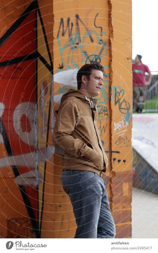 lässig Freizeit & Hobby Ausflug Sport Skateplatz Skateboard Sportstätten maskulin Mann Erwachsene Partner Leben Körper Gesicht 1 Mensch 30-45 Jahre Jugendkultur